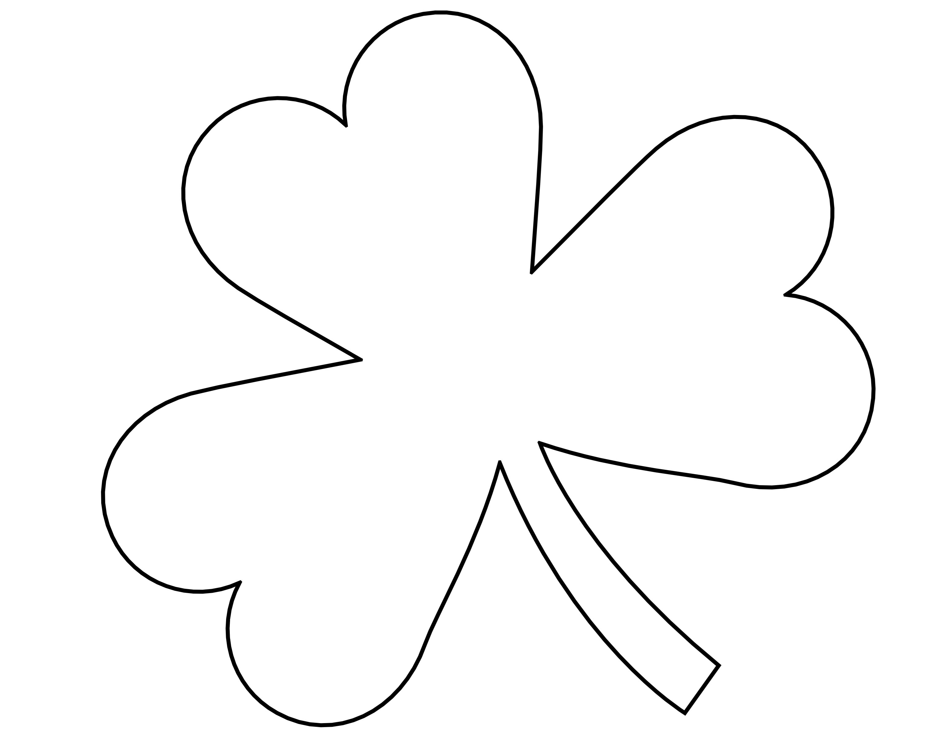 Remarkable image for free printable shamrock template